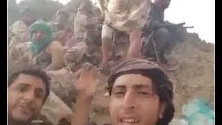 القوات السعودية تفاجئ عدد من الحوثيين على قمة أحد الجبال