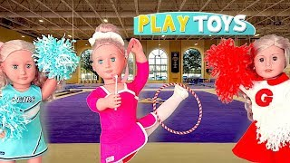 Baby Doll Gymnastics Dream Accident - Play AG Dolls Morning Routine Gymnastics dress up Competition