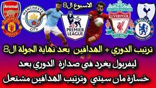 الدوري الانجليزي اليوم 🔥 ترتيب الدوري الانجليزي وترتيب الهدافين بعد نهاية الجولة الثامنة