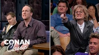 """The Stars Of """"Upright Citizens Brigade"""" On """"Late Night With Conan O'Brien"""" 08/13/98"""