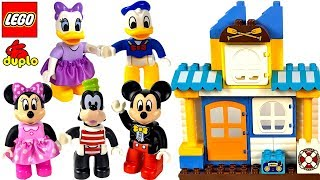 LEGO DUPLO MICKEY MOUSE MINNIE AND FRIENDS HEAD TO THE BEACH ON TRAIN TO BUILD SANDCASTLES - STORY