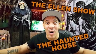 My ReView/ReAction to Andy and Jacqueline Brave the Haunted House on The Ellen Show