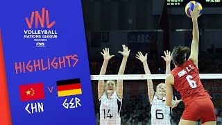 CHINA vs. GERMANY - Highlights Women | Week 5 | Volleyball Nations League 2019