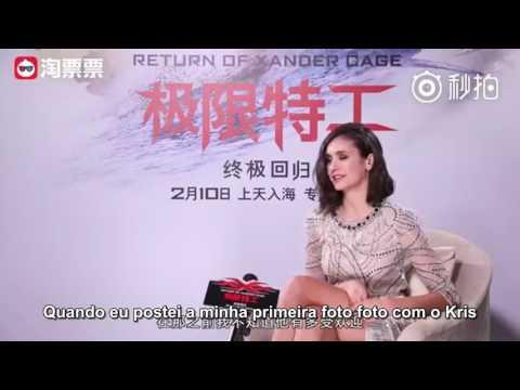 LEGENDADO: Nina Dobrev fala sobre a popularidade de Kris Wu