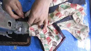 How to Make Umbrella Frock /Cutting Drafting Stitching part 4 of 4