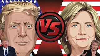 DONALD TRUMP vs HILLARY CLINTON! Cartoon Fight Club Episode 110