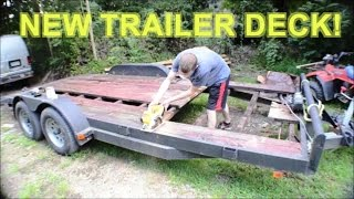Replace / Install NEW Wood Deck and Painting Car Hauler TRAILER