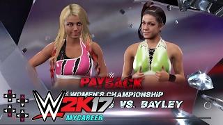 WWE Payback: Bayley vs. Alexa Bliss - Raw Women's Championship Match — WWE 2K17 Match Sims