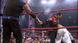 Turning Point 2004: Hall, Nash and Jarrett vs. Jeff Hardy and AJ Styles (with Randy Savage)