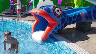 Download Water park for kids with snake slider.  HD VIDEO 3Gp Mp4