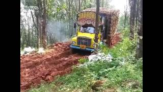Kerala truck awesome driving in extreme condition
