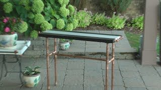 HOW TO MAKE A CONSOLE TABLE OUT OF COPPER FITTINGS
