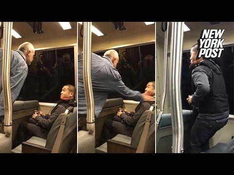 Xxx Mp4 Bigot Attacks Asian Passenger On Train While Horrified Commuters Watch New York Post 3gp Sex