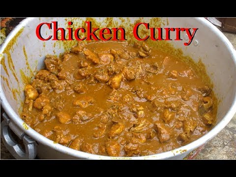 Indian Village CHICKEN CURRY Prepared for 100 People