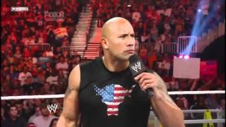The Rock, John Cena after Wrestlemania 27