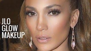 JLO GLOW MAKEUP | Jennifer Lopez Makeup Tutorial | Bronzy Glowy Makeup