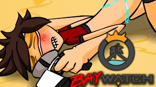 TRACER IS A LESBIAN? OVERWATCH VS BAYWATCH | OVERWATCH ANIMATION MASHUP