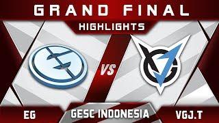 EG vs VGJ.T Grand Final GESC Indonesia 2018 Minor Highlights Dota 2