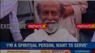 Rajini on NewsX: I'm a spiritual person, want to serve, says Rajinikanth