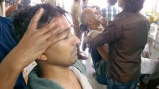 Indian Barber's Navratna Oil Head Massage | ASMR