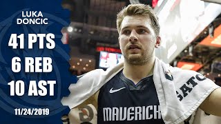 Luka Doncic scores 41 vs. Rockets, his 4th straight game with 30+ points | 2019-20 NBA Highlights