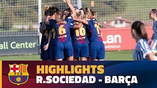 [HIGHLIGHTS] FUTBOL FEM (Liga): Real Sociedad - FC Barcelona (0-1)