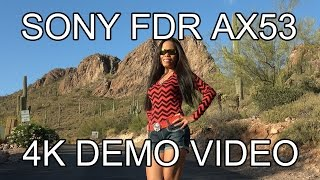 SONY FDR-AX53 4K DEMO VIDEO 📽 GOLD CANYON