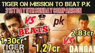 TIGER ZINDA HAI vs PK vs DANGAL DAY 30 BOX OFFICE COLLECTION COMPARISONS | TZH BEATS PK 5th SUNDAY