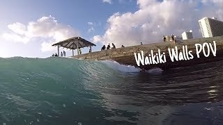 Waikiki Walls Bodyboarding POV   GoPro 4  