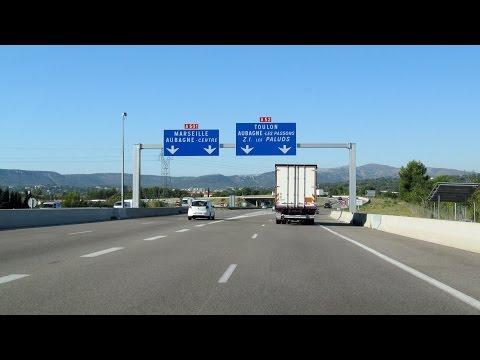France: A52 Aix-en-Provence - Aubagne