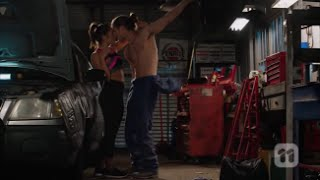 Tyler and Paige kiss and sleep together scene ep 7422