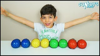 Learn Colors with Squishy Balls for Children and Toddlers