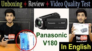 Panasonic HC V180 Full HD Camcorder Unboxing and Review | Best Budget Camera for YouTube |