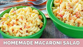 Simple Homemade Macaroni Salad