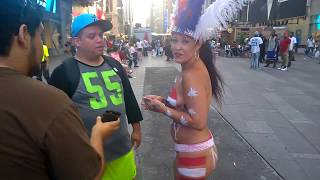 Naked girls in Times Square 2