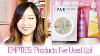 Empties: Products I've Used Up (Korean Skin Care & Hair Care Products)