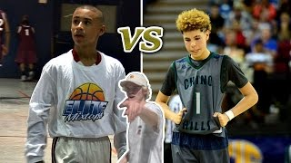 14 YEAR OLDS DOMINATING HIGHSCHOOL BASKETBALL LEAGUE!! JULIAN NEWMAN VS LAMELO BALL