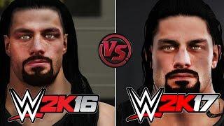 WWE 2K17 vs WWE 2K16 Official Face/Graphics Comparison   (PS4/XB1/PC) 60FPS HD!