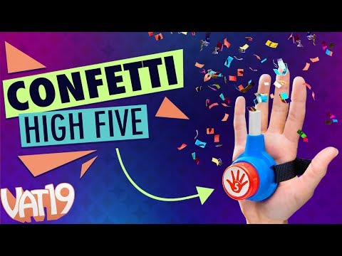 Celebrate excessively with a CONFETTI HIGH FIVE