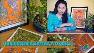 Madhubani/Mithila Painting Tutorial | Indian Folk Painting | Painting Tutorial