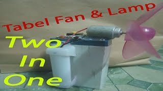 How to Make a Revolving Table Fan - Best out of waste 2016 | How to Make Table Fan & Lamp Two in One