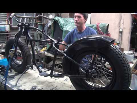 1936 RL 101 WL 45ci Flathead Bobber Bike Assembly rebuild 41 WLA Harley by tatro machine