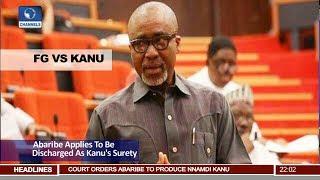 FG VS Kanu: Senator Abaribe Applies To Be Discharged As Kanu's Surety