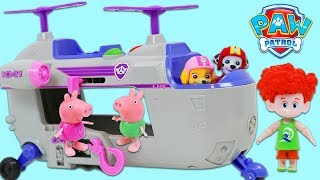 Paw Patrol Pups Use Ultimate Helicopter to Help Peppa Pig & Friends!