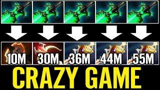 AhJit 3x Divine 10 Min BF Ember Carry Dota 2 Crazy Game