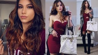 Get Ready With Me! Holiday Party Dress Outfit Idea! + Sexy Makeup & Hair!