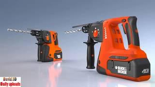 Black & Decker SDS Drill || tools, hammer download free 3D cad models
