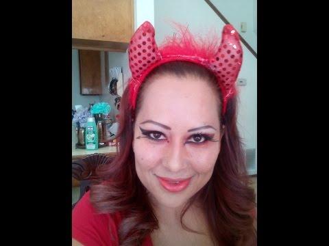 Maquillaje de diabla video2 o segunda opcion Devil makeup