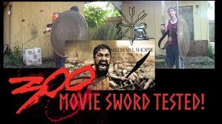 Functional 300 Movie Spartan Sword Test on Padded Armor / Gambeson!