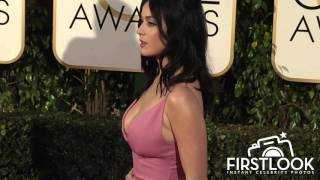 Katy Perry arriving at the 73rd Golden Globe Awards